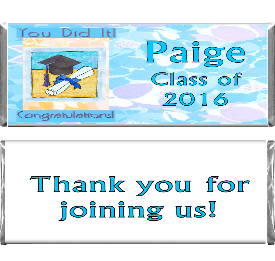 Graduation Custom Candy Bar Wrappers at Candy Bar Wraps